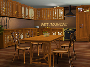Sims 3 — Art Nouveau Kitchen by ShinoKCR — Matching Art Nouveau Kitchen which is a fantasycreation because there was