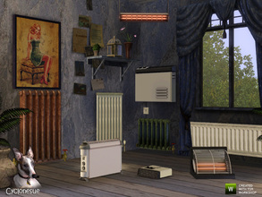 Sims 3 — Climate Set 2 - Heating by Cyclonesue — More dead-as-doornail appliances to clutter Sim homes. None of them