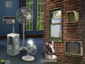 Sims 3 — Climate Set 1 - Cooling by Cyclonesue — The first of two sets for heating and cooling decor objects. This is the