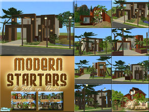 Sims 2 — Modern Starters SUPERSET by Alyosha — All eight modern starters in a single download! Enjoy! No CC used! *SEE