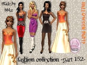 Sims 2 — Fashion Collection - part 152 - by BBKZ — It\'s time for Halloween Party! Available as everyday/formal for