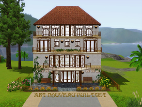 Sims 3 — Art Nouveau Builtset by ShinoKCR — A Set ready for Pets - so make sure your Game is updated with the Patch for