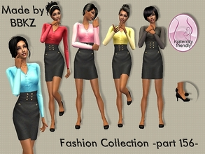 Sims 2 — Fashion Collection - part 156 - by BBKZ — Available as everyday/formal for YAs/adults. Maternity friendly. No EP
