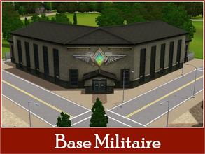Sims 3 — New Riverview Military Center by Youlie25 — Here is a new Military center for riverview, with a parade place. I