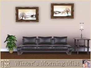 Sims 3 — Winters Morning Mist by ziggy28 — Two winter paintings by the artist P Frankman. Recolourable frame. One file