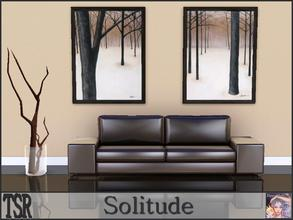 Sims 3 — Solitude by ziggy28 — Two paintings called Solitude and Stoic by the artist Patrick StGermain. Recolourable