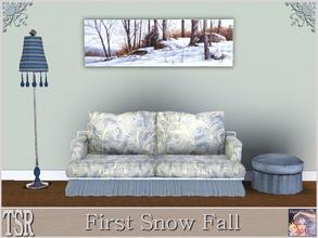 Sims 3 — First Snow Fall by ziggy28 — First Snow Fall by the artist Ray Hendershot. TSRAA