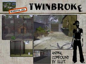 Sims 3 — Twinbroke Animal Compound. by Elut — Twinbroke Collection. A nice residential house that double up as an animal