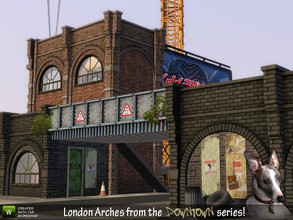 Sims 3 — London Arches Viaduct Build Set by Cyclonesue — Make viaducts, bridges or complete buildings of any height with