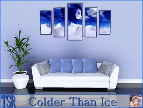 Sims 3 — Colder Than Ice by ziggy28 — Colder Than Ice a 5 panel painting. Two outer recolourable frames.