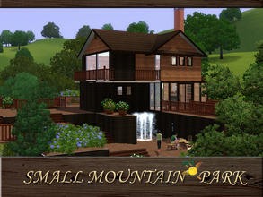 Sims 3 — evi Small Mountain Park by evi — Built on many different levels this wooden oasis is waiting for your sims after