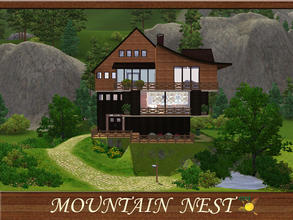 Sims 3 — evi Mountain Nest by evi — Built on the top of a hill this house is the the one for a medium size family (3-4