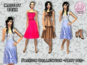 Sims 2 — Fashion Collection - part 165 - by BBKZ — Based on dresses designed by D&G, Red Valentino & Rebecca