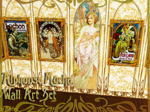 Sims 3 — Alphonse Mucha Wall Art Collection by murfeel — A collection of some of my favorite works by Art Nouveau genius
