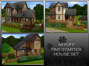 Sims 3 — Tiny Starter House Set by ayyuff — No Expansion Packs Required! Please see the individual items for details.