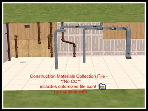 Sims 2 — Construction Materials COLLECTION by mattphipps68 — This is a COLLECTION file of the stud walls, drywall,