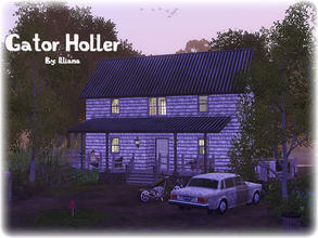 Sims 3 — Gator Holler - 2 Bd, 2 Bth by Illiana — Everything your swamp lovin' simmies could want! Includes parking for a
