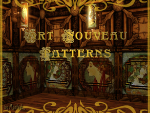 Sims 3 — Art Nouveau Pattern Set by murfeel — This is only 2 of 4 patterns I intend to upload--the 'Alphonse Mucha Half'