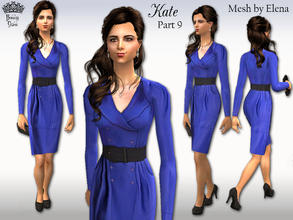Sims 2 — Kate Part 9: Trina dress by BunnyTSR — Inspired by the electric blue Trina dress by Reiss that Kate wore on 19