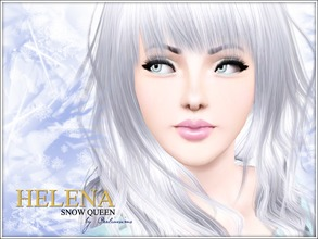 Sims 3 — Helena - Snow Queen by Pralinesims — Helena, a mystical snow queen. You only need the basegame. You must have