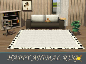 Sims 3 — evi Happy Animal rug by evi — It is recolorable so you can change its color as much as you like to give your