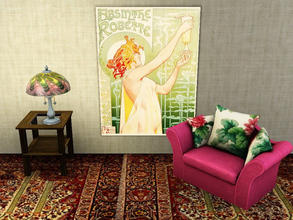 Sims 3 — Vintage Absinthe Poster by tupelohoney2008 — Beautiful Art Nouveau Absinthe Poster