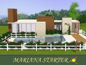 Sims 3 — evi Mariana Starter by evi — A two bedroom starter with a private pool and a back yard. Not furnished