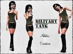 Sims 3 — Military Tank by XxNikkibooxX — Recolorable tank for your young adult and adult sims. Available for everyday