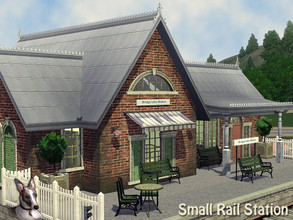 Sims 3 — Bridge Lane Railway Station by Cyclonesue — A small station makes a perfect small home conversion! This is a