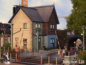 Sims 3 — Bridge Lane Railway Junction by Cyclonesue — Save this property from demolition by renovating it, or at least