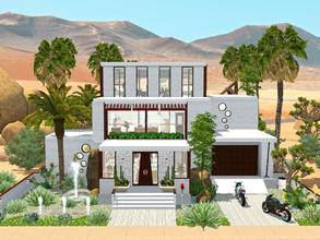 Sims 3 — Greenway by mrsimulator — Greenway is situated in Lucky Palms. This modern home has 2 bedrooms, 2 bathrooms, a