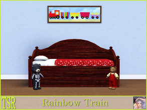 Sims 3 — Rainbow Train by ziggy28 — Rainbow Train. Recolourable frame. TSRAA