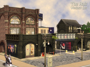 Sims 3 — Bridge Lane Railway  - The Halt by Cyclonesue — A dark and run-down viaduct, with adjacent factory,
