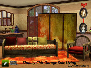 Sims 3 — Shabby Chic Garage Sale Living by TheNumbersWoman — YES! Back to my roots with this cheap by design Furniture! I