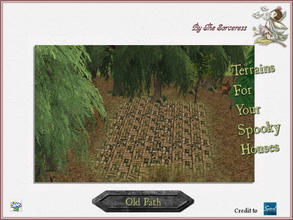 Sims 2 — JJs Old Path by thesorceress — The 4th set of Terrainpaints to shape and landscapes your lots as you like :)