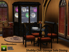 Sims 3 — Shabby Chic Garage Sale Dining by TheNumbersWoman — Well guess what? This stuff was so bad and thrown to the