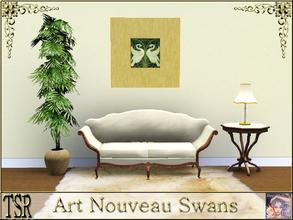 Sims 3 — Art Nouveau Swans by ziggy28 — Art Nouveau Swans. New mesh by fantasticSims. New mesh created by fantasticSims