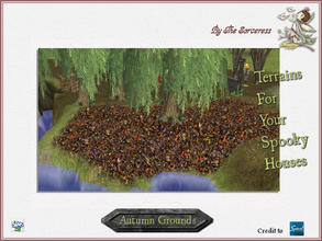 Sims 2 — JJs Autumn Grounds by thesorceress — The, for now, last set of terrains. I hope you have loads of fun with