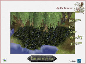 Sims 2 — JJs Dirt and Rocks 002 by thesorceress — The, for now, last set of terrains. I hope you have loads of fun with