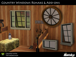 Sims 3 — Windows Country Set by Mutske — This set contains many windows that matches the The Truth Divider window. Some