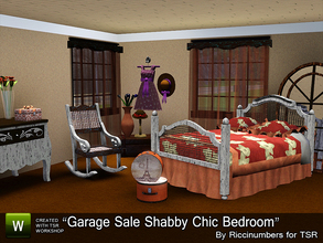 Sims 3 — Garage Sale Shabby Chic Bedroom by TheNumbersWoman — I never turn down a garage sale! The bargains are