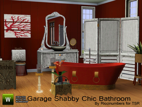 Sims 3 — Garage Shabby Chic Bathroom by TheNumbersWoman — Worn, Shabby Chic, used items.... all describe this set of