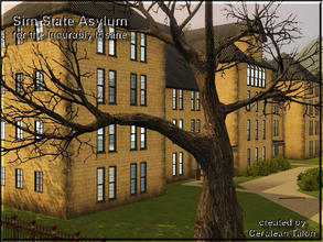 Sims 3 — The Sim State Insane Asylum by Cerulean Talon — The last thing in mental health care. Creepy but fully
