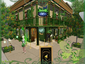 Sims 3 — La Fee Verte by murfeel — Come have a bottle of Absinthe at the Green Faery! There's dancing, shuffleboard,