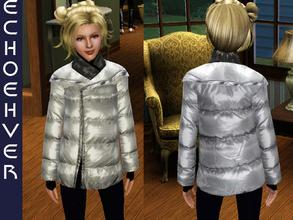 Sims 3 — Echoehver Teen Winter Coat by Echoehver — Shiny winter coat for TEENS. Four recolorable parts.