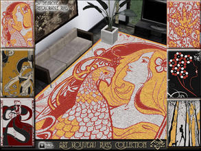 Sims 3 — Art Nouveau Rugs Collection by Devirose —