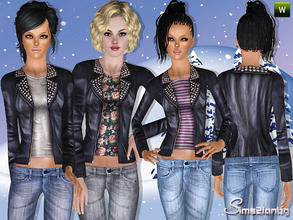 Sims 3 — 294- Outdoor jacket 2 by sims2fanbg — .:294 Outdoor set:. Jacket in 3 recolors,Custom mesh,Recolorable,Launcher
