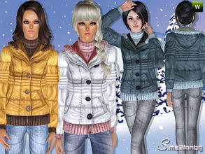 Sims 3 — 294 - Outdoor jacket by sims2fanbg — .:294 Outdoor set:. Jacket in 3 recolors,Custom mesh,Recolorable,Launcher