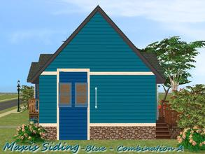 Sims 2 — Maxis Siding-Blue-Trim Combination A by allison731 — Recolored Maxis siding wall + added bottom and upper trim.