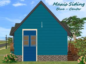 Sims 2 — Maxis Siding-Blue-Center by allison731 — Recolored Maxis siding wall. Recolor made from Shiver Me Timbers Wood